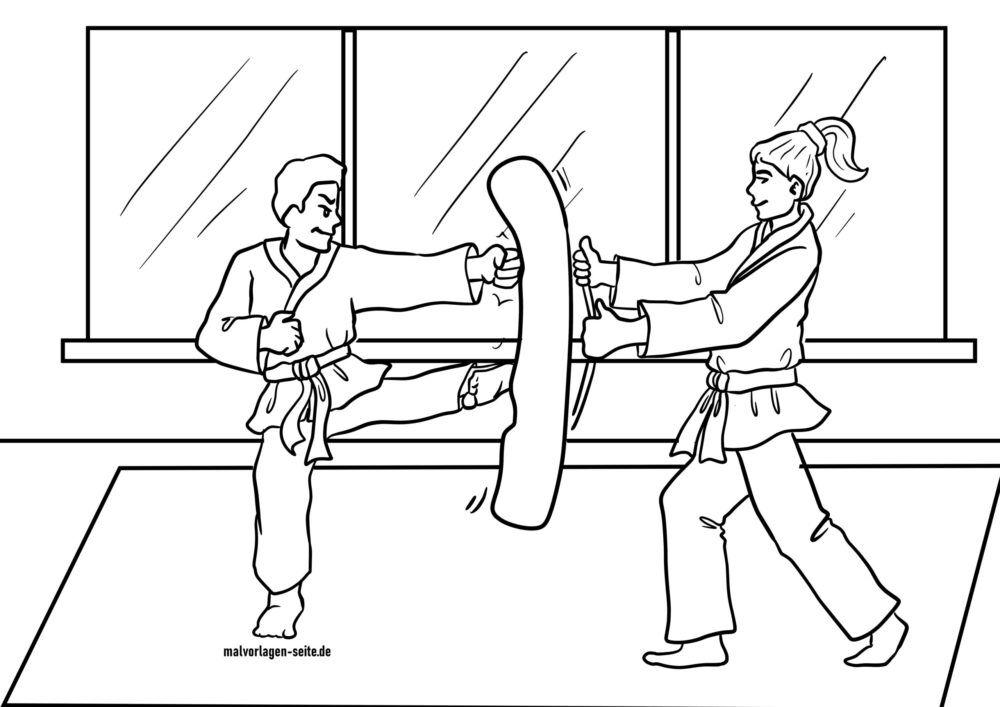 Duilleag dathte Taekwondo