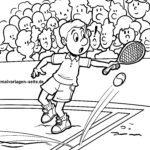 דף צביעה משחק טניס