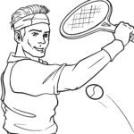 Размалёўка Тэніс - спорт