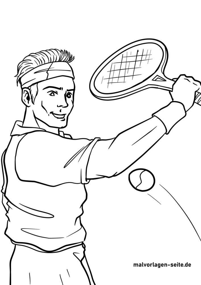 Koloreztatzen duen tenislaria