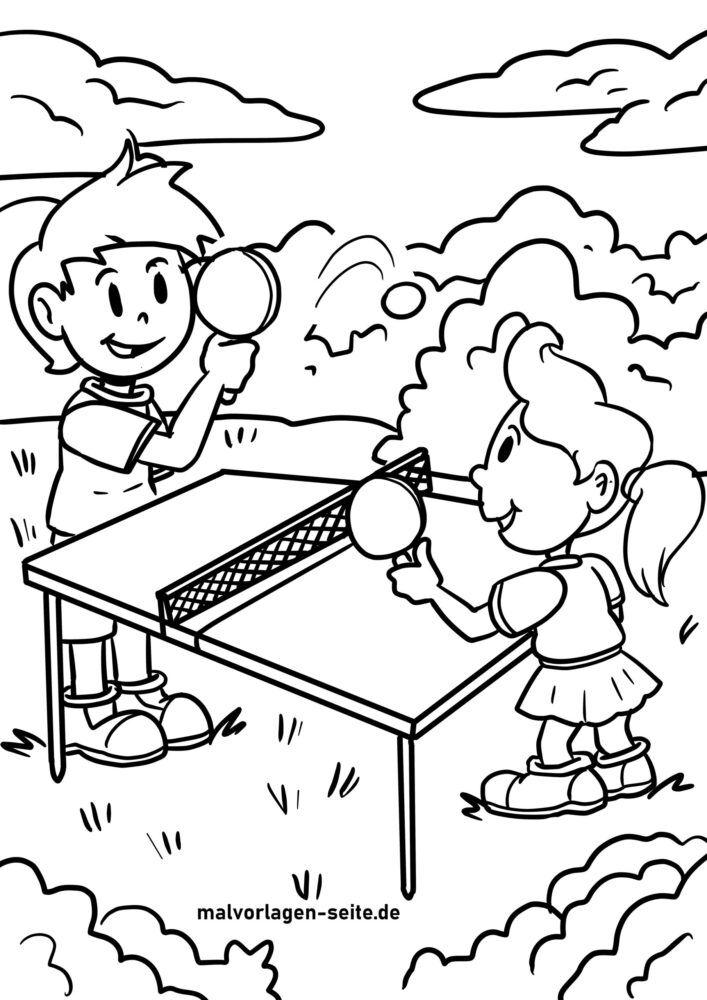 Бояуға арналған үстел теннисінің бояу парағы