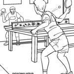 Боење страница тенис на маса - спорт