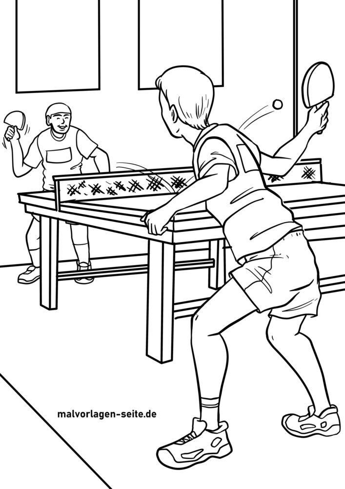 Nag-kolor nga panid nga table tennis