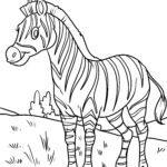 Оцвети страница зебра