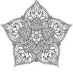 Mandala de flores para adultos
