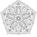 Mandala di fiori per bambini