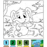 Комплет сликарство по броеви - Слон