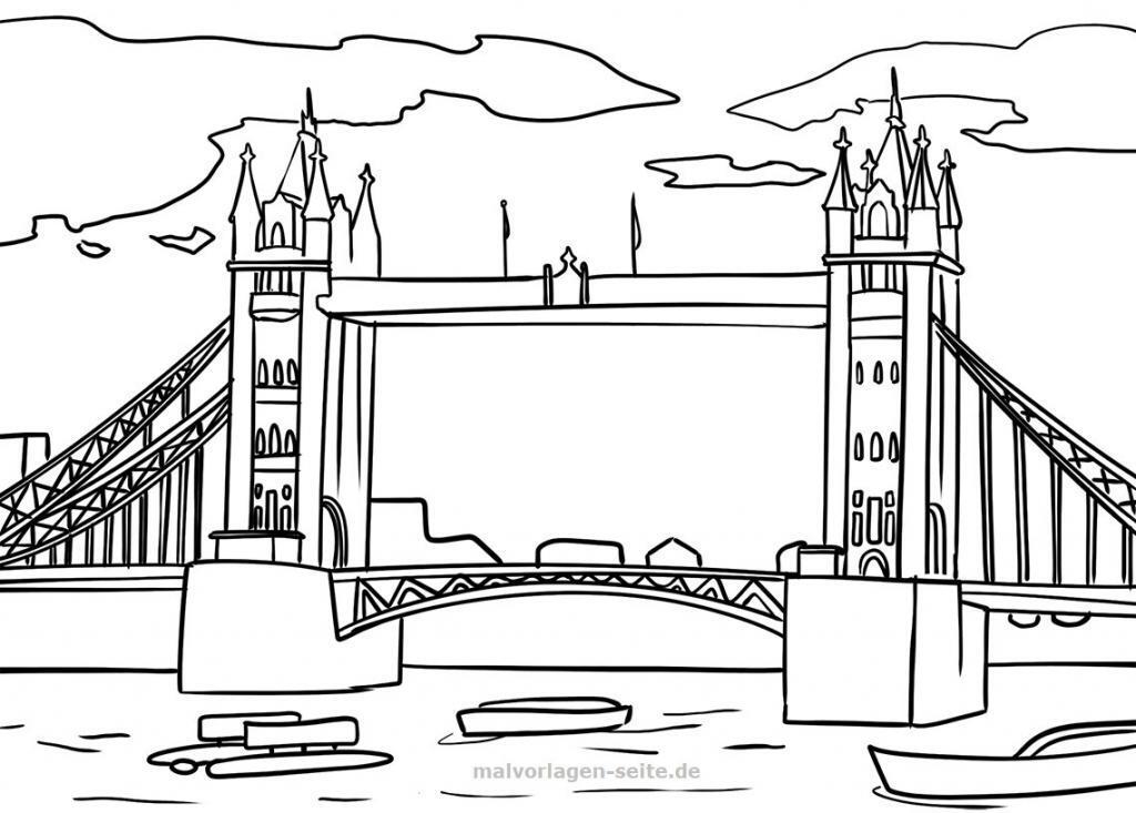 Malvorlage / Ausmalbild Tower Bridge, London