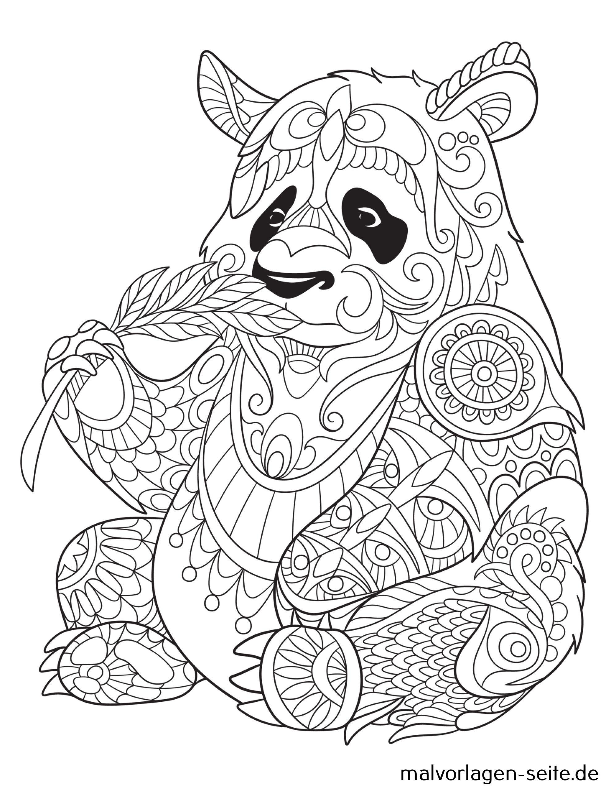 Tolle Mandala Für Erwachsene - Panda - Kostenlose Ausmalbilder