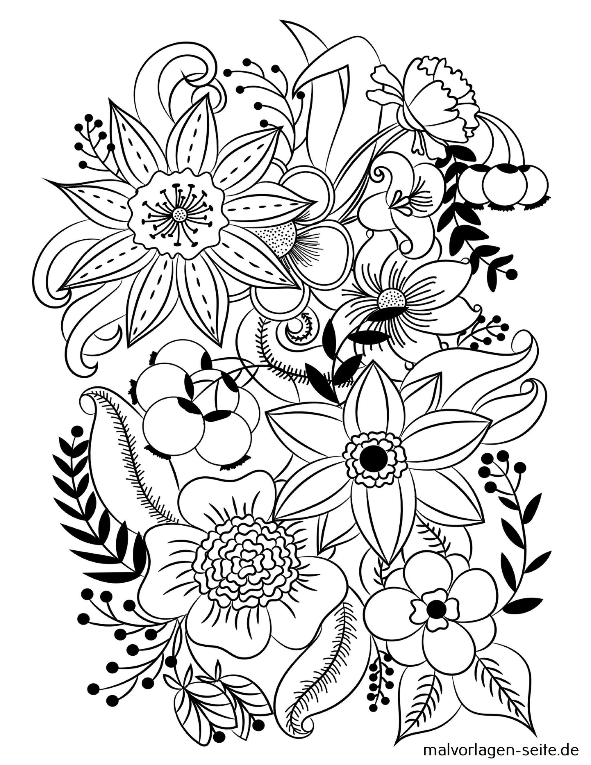 Tolle Mandala Erwachsene - Blumen - Kostenlose Ausmalbilder