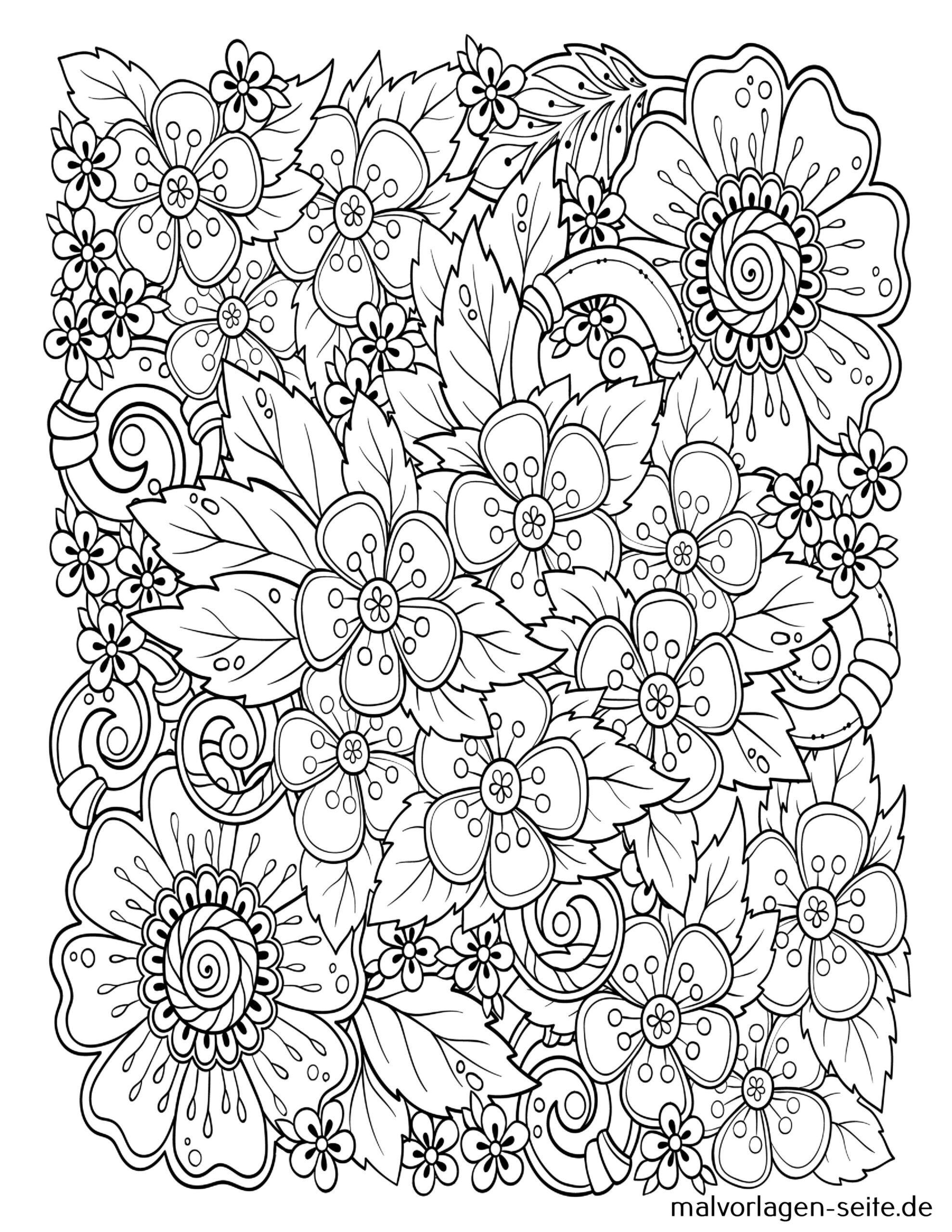 Tolle Mandala Für Erwachsene - Blüten - Kostenlose Ausmalbilder