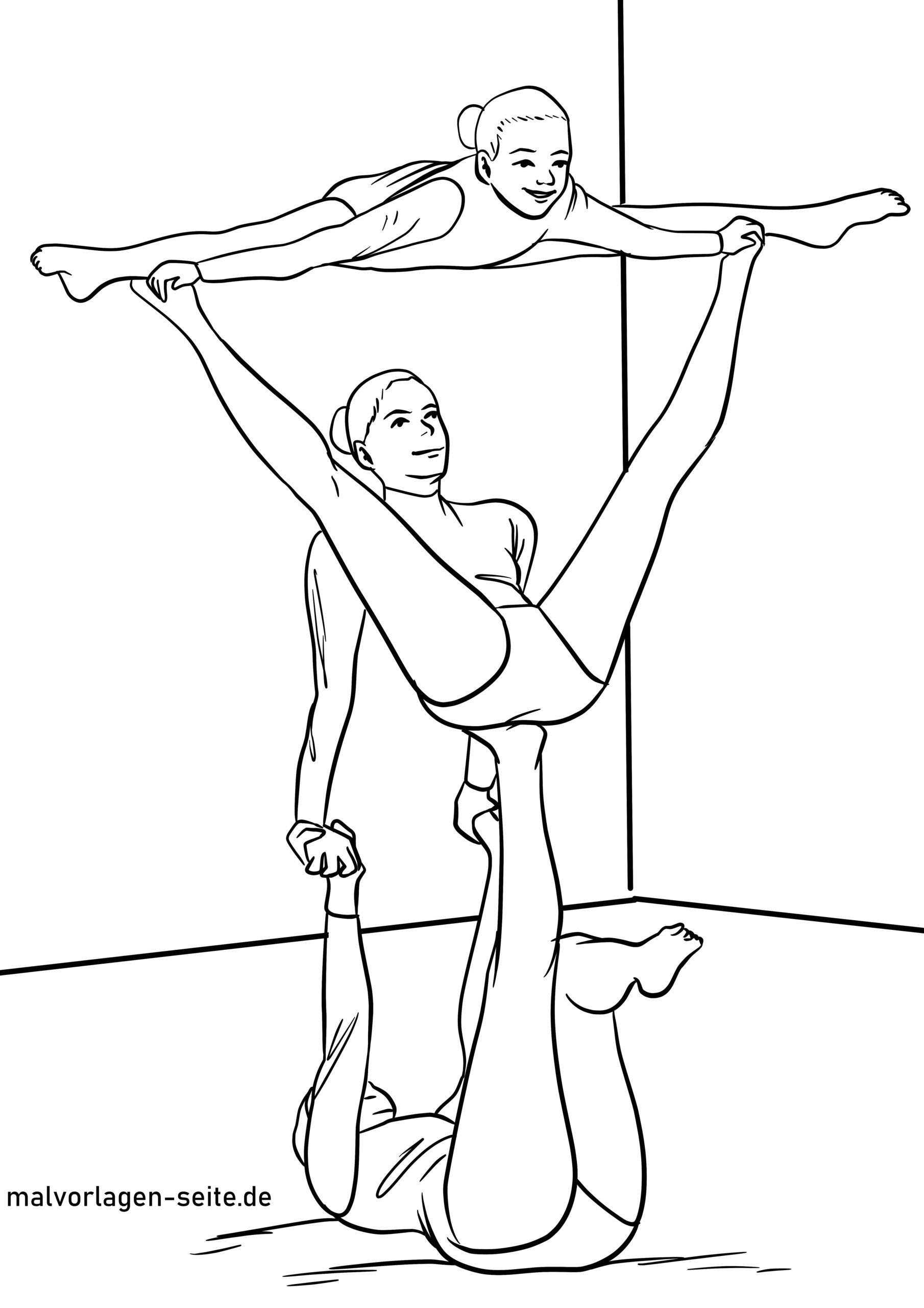 Malvorlage Sportakrobatik