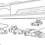 Disegno da colorare auto da corsa - automobili