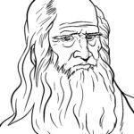 Boyama səhifəsi Leonardo da Vinci - şəxsiyyətlər