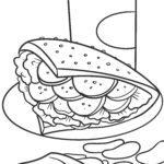 Boyama səhifəsi dönər kababı və fast food - yemək