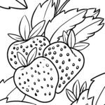 Malvorlage Erdbeeren - Obst