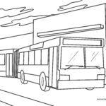 Kleurplaat artikulearre bus