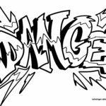 Páxina para colorear de graffiti para nenos - baile