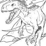 Páxina para colorear dinosauro xigante