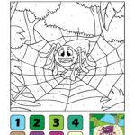 Боја по бројки пајак