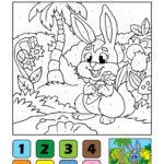 Комплет насликани по броеви - зајаче