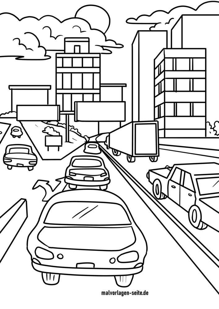 Koloreztatzen hiriko trafikoa
