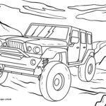 Disegno da colorare fuoristrada - automobili