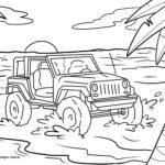 Жағажайда жол талғамайтын машинаның бояуы