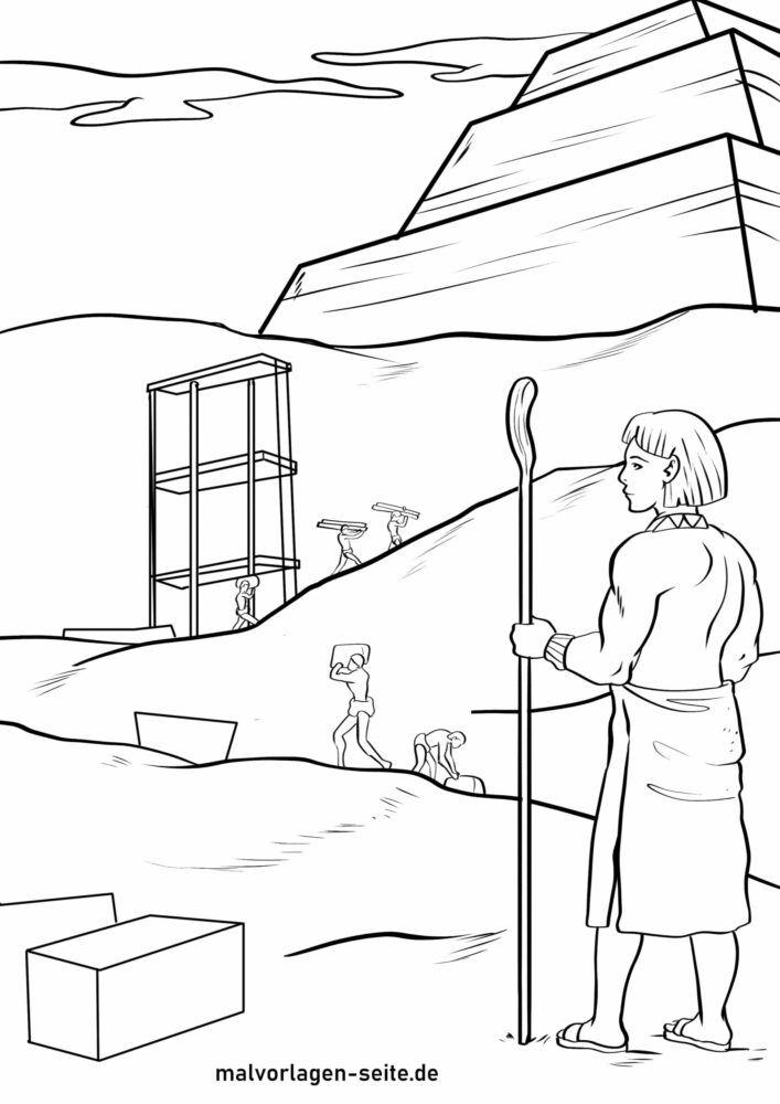 Panid sa pagkolor sa pagtukod sa mga piramide sa Ehipto