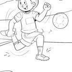 Dibujo para colorear xogador de fútbol