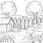 Disegno da colorare verdure in giardino