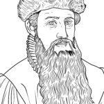 Disegno da colorare Johannes Gutenberg