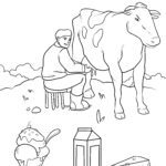 Disegno da colorare latticini