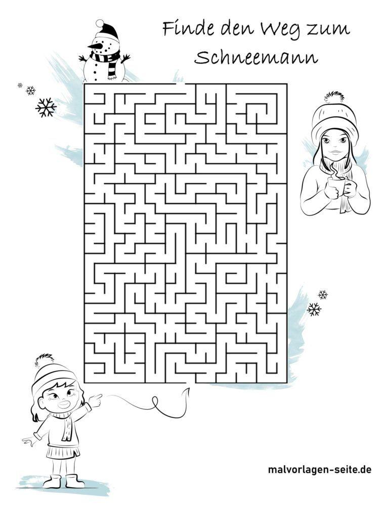 Labirinto - Trova la strada per il pupazzo di neve