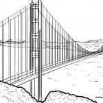 Размалёўка мост - Мост Залатыя Вароты