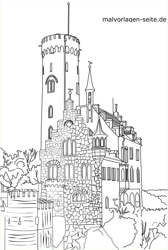 Shafin canza launi Lichtenstein Castle - abubuwan gani