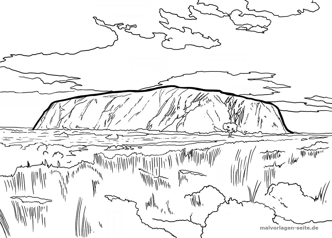 Panid sa pagkolor Uluru / Ayers Rock