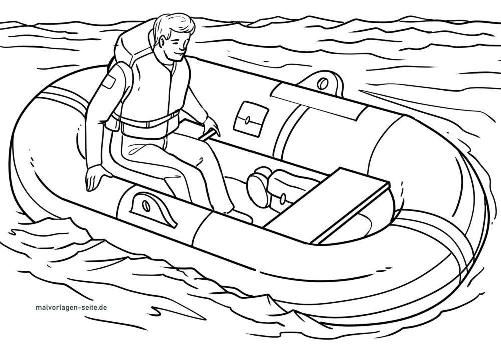 قایق نجات صفحه رنگ آمیزی