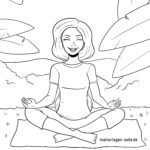 Malvorlage Meditieren