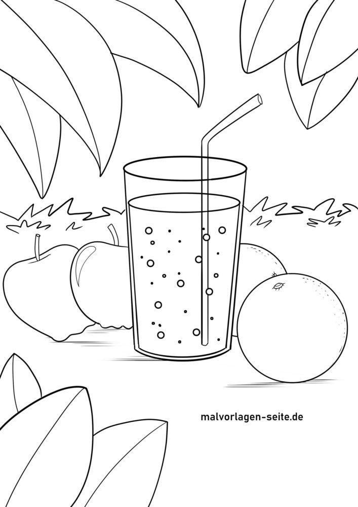 Kleurplaat appelsop / sinesappelsop