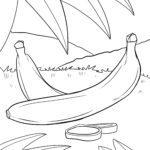 Páxinas para colorear bananas