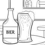 Malvorlage Bier - Trinken