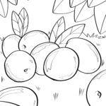 A 'dathadh cranberries duilleag