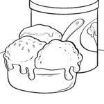 Pagina da colorare mangiare il gelato