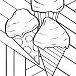 Disegno da colorare gelato in cialde