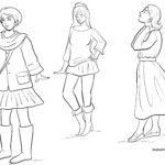 Момичета за оцветяване и модни / влиятелни