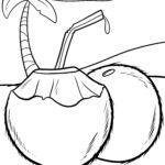 Оцветяваща страница кокосови орехи - ядки