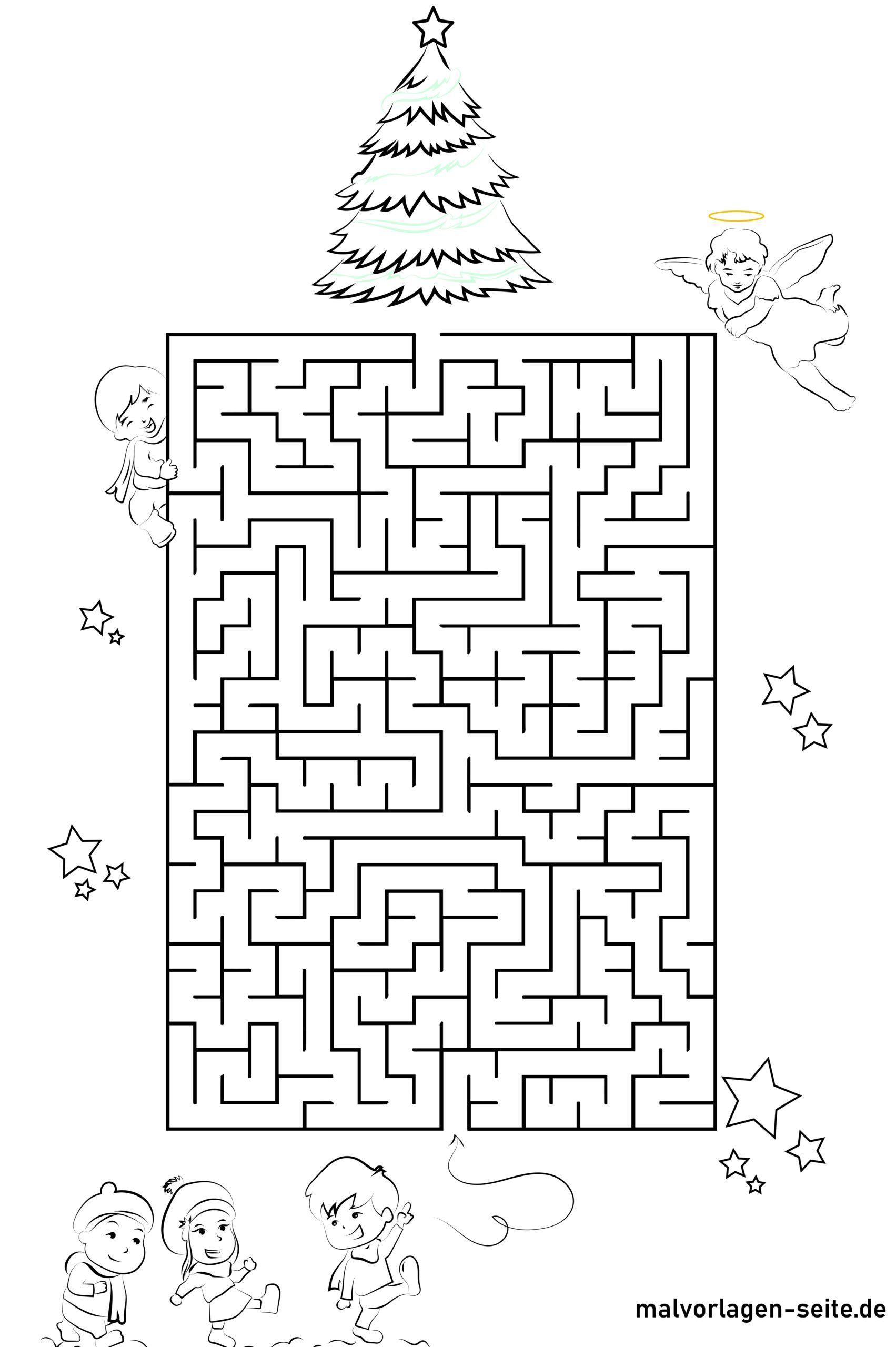 Labirint - Milad ağacına aparan yol