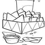 Disegno da colorare nachos