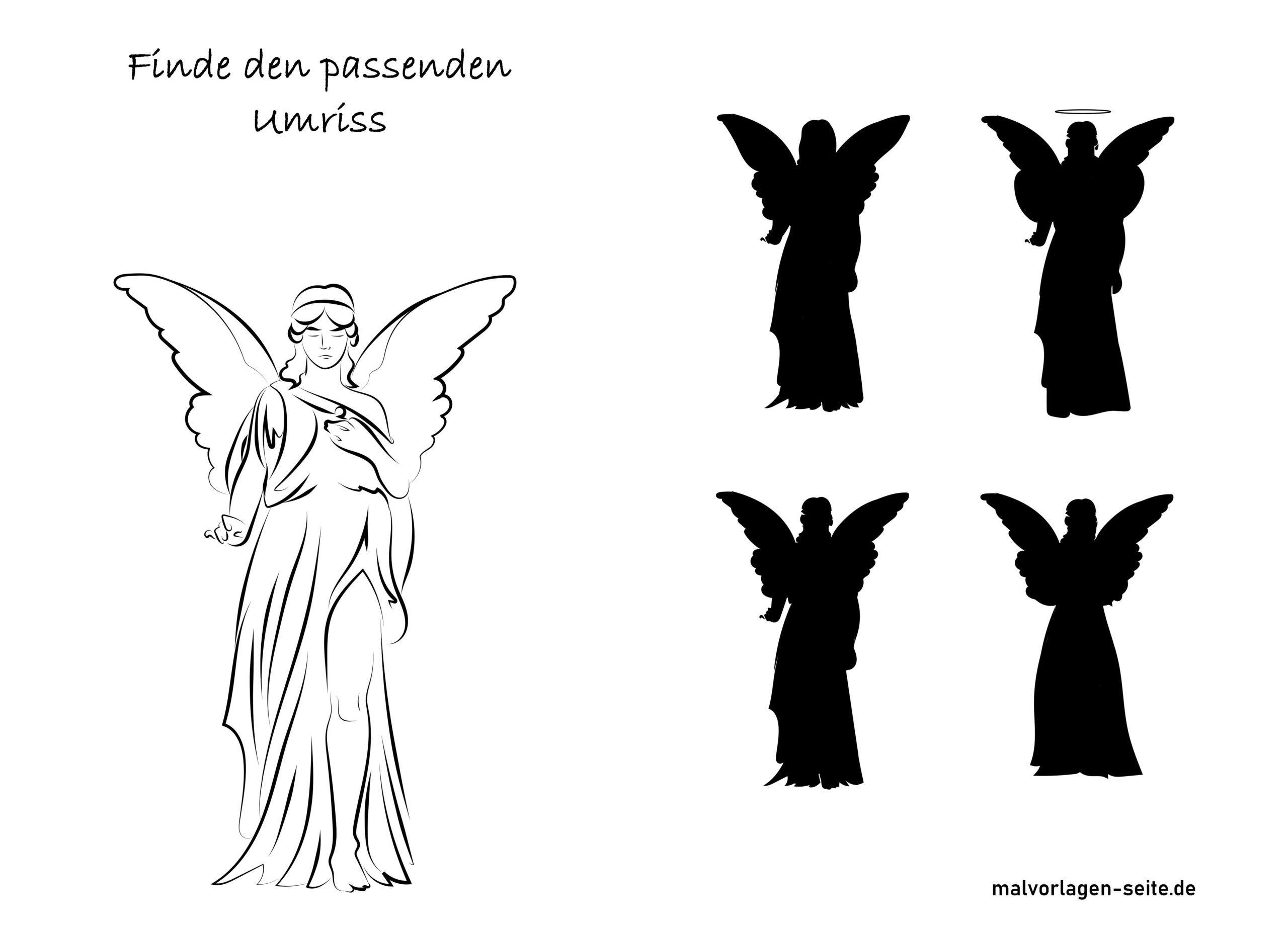 Schattenrätsel Engel